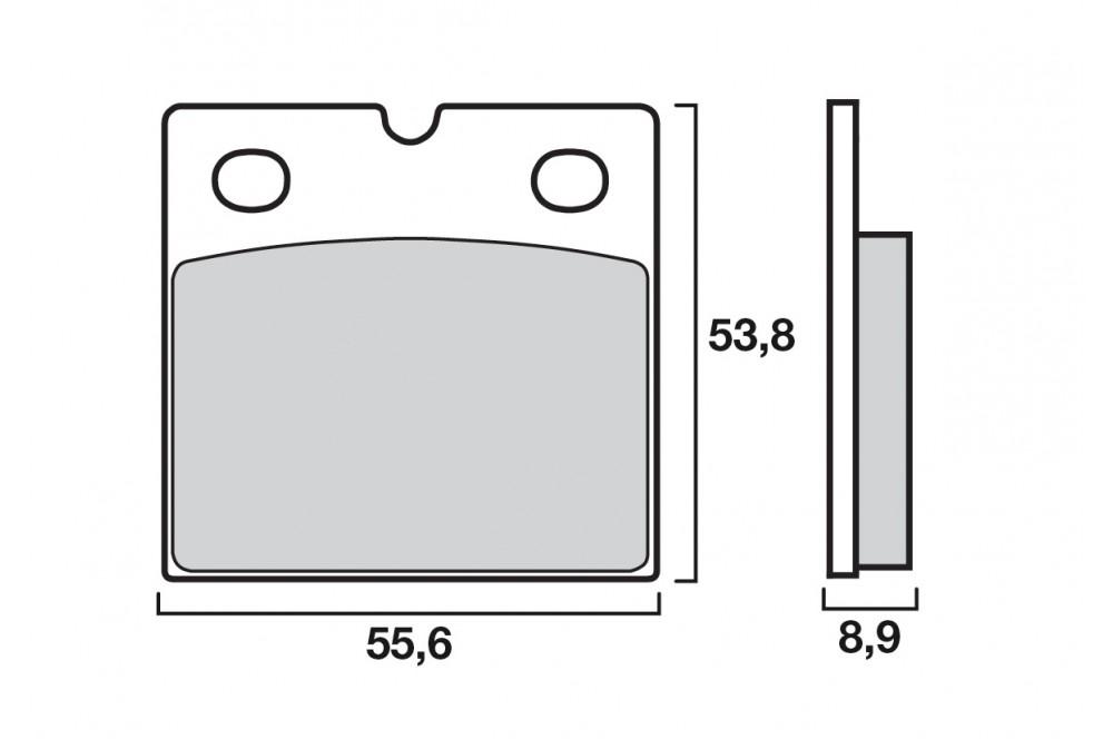 plaquette de frein arri re brembo 07bb14sp street moto piece. Black Bedroom Furniture Sets. Home Design Ideas