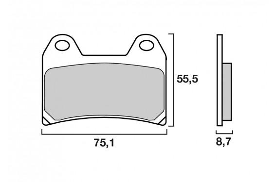 plaquette de frein racing brembo 07bb19 sc street moto. Black Bedroom Furniture Sets. Home Design Ideas
