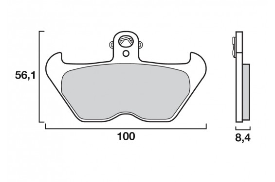 plaquette de frein avant brembo 07bb24sa street moto piece. Black Bedroom Furniture Sets. Home Design Ideas