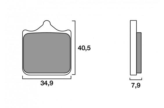 plaquette de frein racing brembo 07bb33rc street moto piece. Black Bedroom Furniture Sets. Home Design Ideas