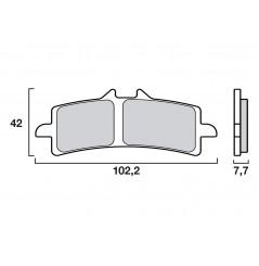 Plaquette de frein avant Racing Brembo 07BB37SC