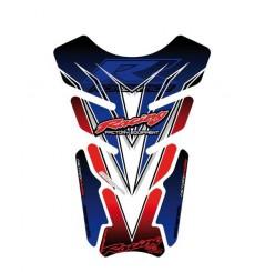 Protection de Réservoir Universel Moto Rouge - Blanc - Bleu pour HONDA