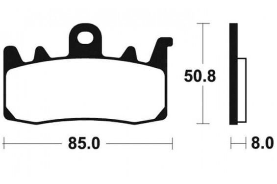 plaquette de frein avant brembo 07bb38sa street moto piece. Black Bedroom Furniture Sets. Home Design Ideas