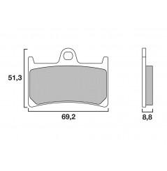 Plaquette de frein Racing Brembo 07YA23SC
