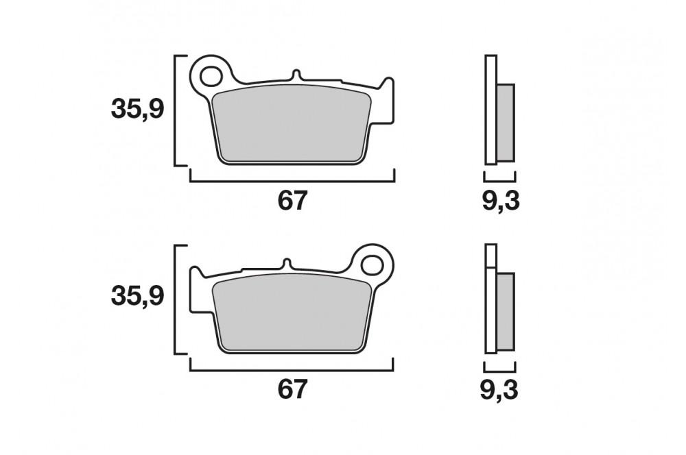 plaquette de frein arri re brembo 07ya41 sx street moto piece. Black Bedroom Furniture Sets. Home Design Ideas