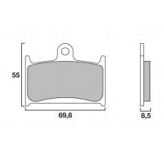 Plaquette de frein Racing Brembo 07SU14SC