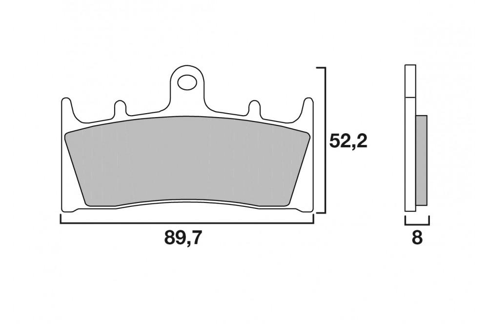 plaquette de frein avant brembo 07su19 sa street moto. Black Bedroom Furniture Sets. Home Design Ideas
