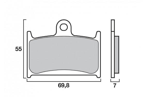 Plaquette de frein Avant Brembo 07SU22.SA