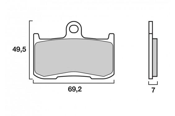 Plaquette de frein Avant Brembo 07KA23.SA