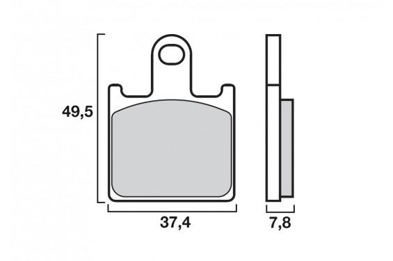 Plaquette de frein Avant Brembo 07KA28.SA