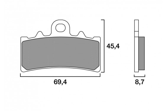 plaquette de frein avant brembo 07gr18 cc street moto piece. Black Bedroom Furniture Sets. Home Design Ideas