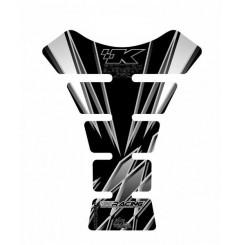 Protection de Réservoir Moto Universel Noir - Blanc pour KAWASAKI