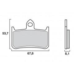 Plaquette de frein racing Brembo 07HO28SC