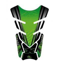 Protection de Réservoir Moto Universel Vert - Gris - Noir pour Kawasaki