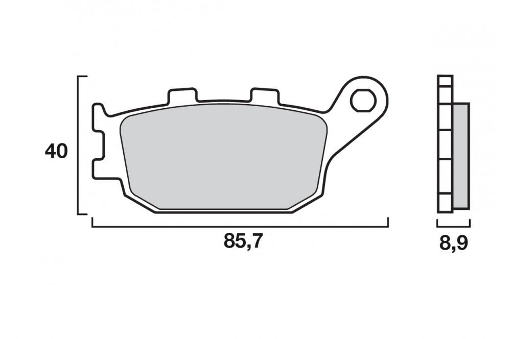 Rétroviseur Honda CBF 500 pc39 gauche /' 04-08