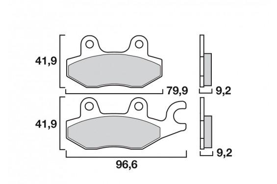 plaquette de frein avant brembo 07ho4008 street moto piece. Black Bedroom Furniture Sets. Home Design Ideas