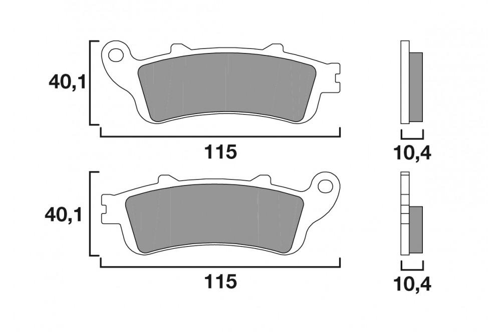 plaquette de frein arri re brembo 07ho52sp street moto piece. Black Bedroom Furniture Sets. Home Design Ideas