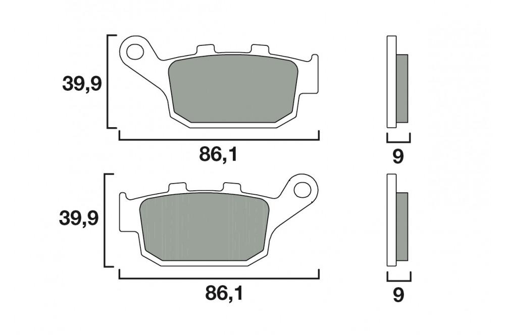 plaquette de frein arri re brembo 07ho53 sp street moto. Black Bedroom Furniture Sets. Home Design Ideas