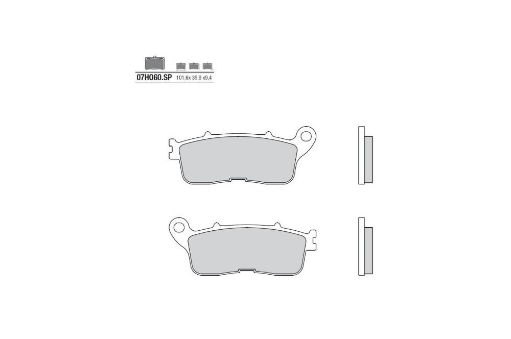 plaquette de frein arri re brembo 07ho60 sp street moto. Black Bedroom Furniture Sets. Home Design Ideas