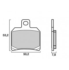 Plaquette de frein Avant Brembo 07004 XS