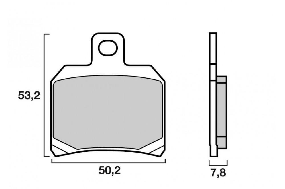 plaquette de frein arri re brembo 07004 xs street moto piece. Black Bedroom Furniture Sets. Home Design Ideas