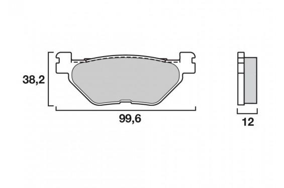 Plaquette de frein Arrière Brembo 07052 XS
