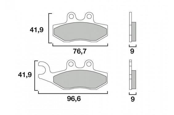 plaquette de frein avant brembo 07056 xs street moto piece. Black Bedroom Furniture Sets. Home Design Ideas