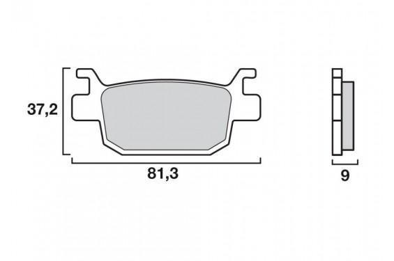Plaquette de frein Arrière Brembo 07064 XS