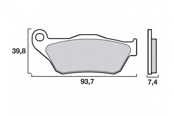 plaquette de frein avant brembo 07065 xs street moto piece. Black Bedroom Furniture Sets. Home Design Ideas