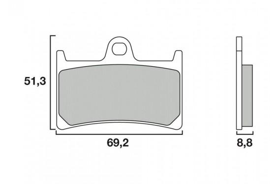 Plaquette de frein Avant Brembo 07077 XS