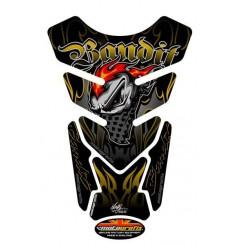 Protection de Réservoir Moto Noir - Or pour Suzuki Bandit Tous Modèles