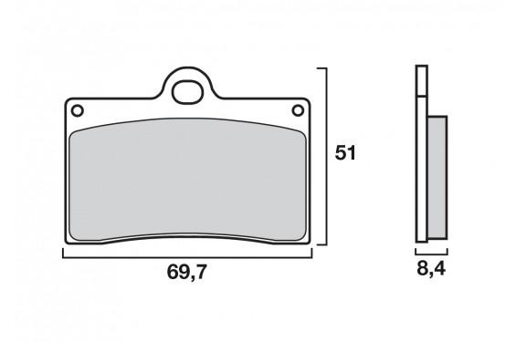 Plaquette de frein Avant Brenta FT3030