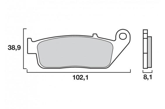 Plaquette de frein Avant Brenta FT3059