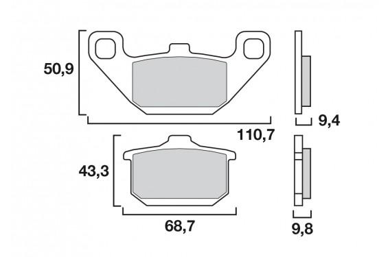 Plaquette de frein Avant Brenta FT3061