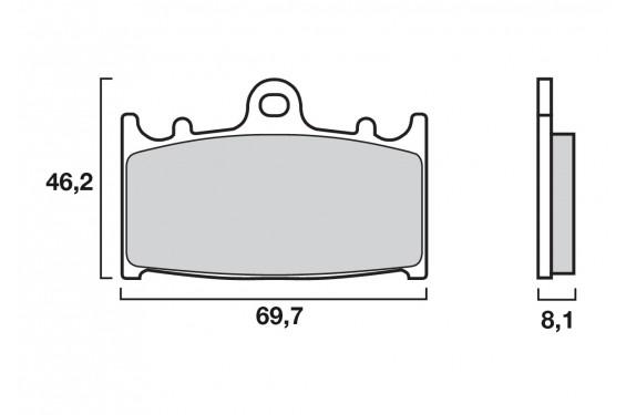 Plaquette de frein Avant Brenta FT3062