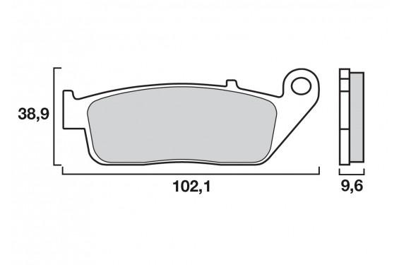 Plaquette de frein Avant Brenta FT3071