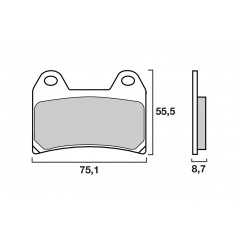 Plaquette de frein Avant Brenta FT3093