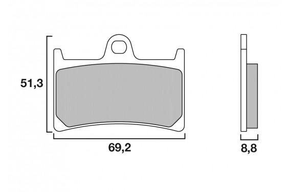Plaquette de frein Avant Brenta FT3094