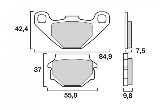 Plaquette de frein Brenta FT3095