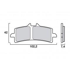 Plaquette de frein Avant Brenta FT4113