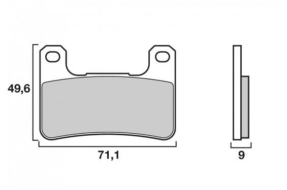 Plaquette de frein Avant Brenta FT4117