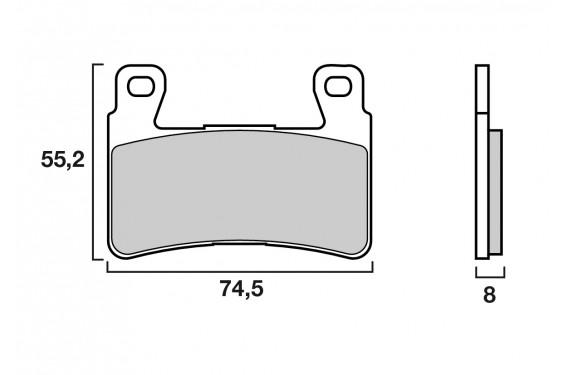 Plaquette de frein Avant Brenta FT4121