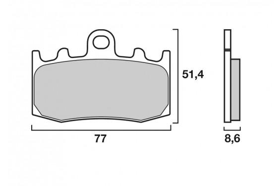 Plaquette de frein Avant Brenta FT4123