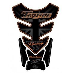 Protection de Réservoir Moto Universel Noir - Orange pour TRIUMPH