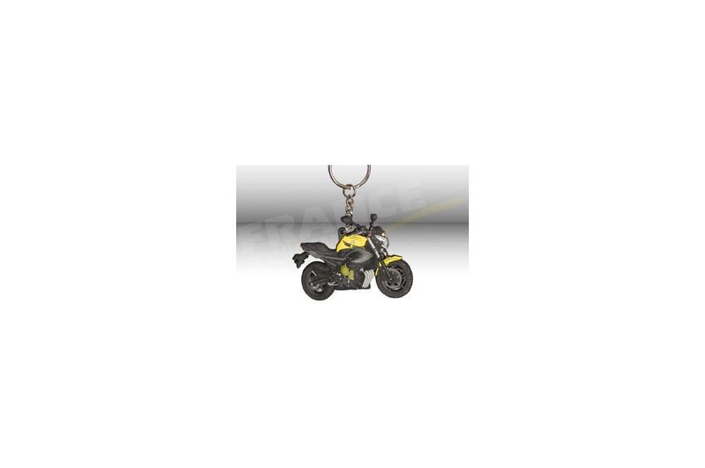 porte clefs 3d caoutchouc yamaha xj6 2009 jaune street moto piece. Black Bedroom Furniture Sets. Home Design Ideas