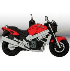 Porte-Clefs 2D HONDA X11 2000 Rouge