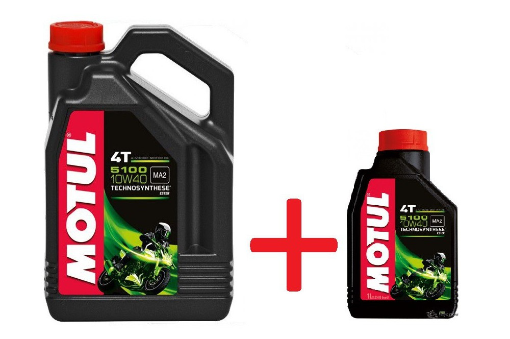 huile moto motul 5100 4t 10w40 4 litres 1 litre offert street moto piece. Black Bedroom Furniture Sets. Home Design Ideas