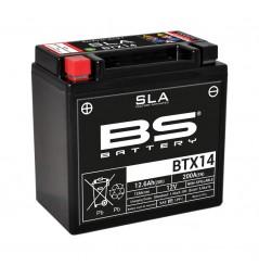 Batterie Moto BS BTX14-SLA  (YTX14-BS - CBTX14-BS)