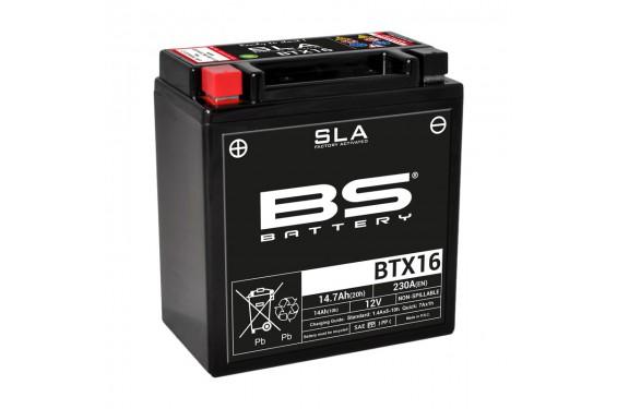 Batterie Moto BS BTX16-SLA  (YTX16-BS - CBTX16-BS)
