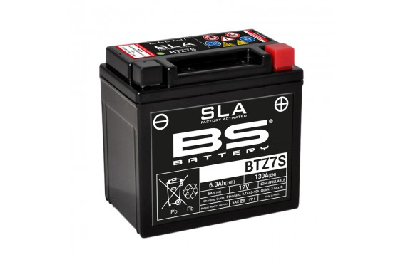 Batterie Moto BS BTZ7S SLA ( YTZ7S )